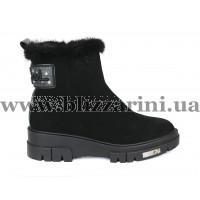 Ботинки L432M-87-005+599 (полн мех)  черный замш  бот з