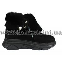 Ботинки 817 100 80 черный замш (MEX 4) бот з