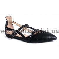 Летний туфель 0018-165 R-2035  черная кожа лазер  л-т