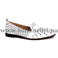 Летний туфель P093 1015 16  белая  кожа  л-т