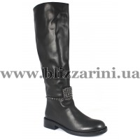 Сапог 2910-1627BM (мех 4)  черная кожа  зима