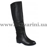 Сапоги BY059-17-W958 (мех 4)  черная кожа  зима