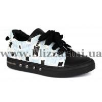 Кроссовки, кеды L201-8843-F118+001  черная кожа+джинс  туф