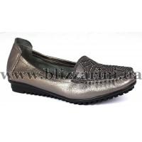 Туфли 18379 grey  никель кожа  туф