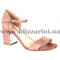 Босоножки H7236-321-713  розовый замш  л