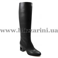 Сапог MST19-H2-NP01A black кожа ос
