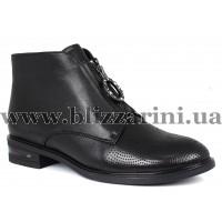 Ботинки H532-257-N254  черная кожа  бот