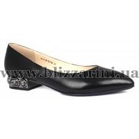 Туфли S413-70-R021AK  черная кожа  туф