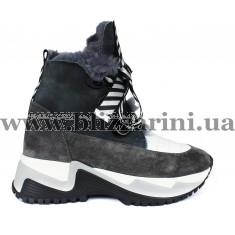Ботинки 152-9275 105-15 серый замш (полн мех) бот з
