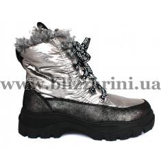 Ботинки 3951-Z939 серебристый текстиль (искусст мех) бот з