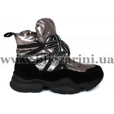 Кроссовки, кеды 1552-Z080 никель текстиль (искусст мех) бот з
