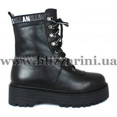 Ботинки 140 1545 03 черная кожа (полн мех) бот з