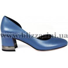 Туфли Z269-70H-Y593K синяя кожа л-т