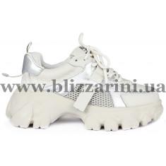 Кроссовки, кеды 238-3-2 бежевая кожа туф