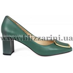 Туфли BZ977-8A-C зеленая кожа туф