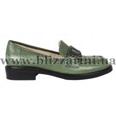Туфли LD143-02-NP589TA зеленая кожа туф