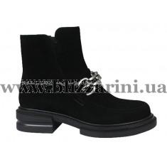 Ботинки 18J885-5503J-3008 черный замш бот