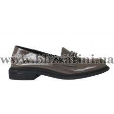 Туфли C116-1095-869A серый лак туф