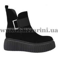 Ботинки LE195-02-015B черный замш бот
