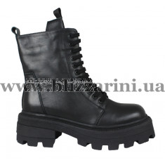Ботинки BZ262-4M-A (полн мех) черная кожа бот з