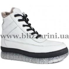 Ботинки P158 98 109 (полн мех)  белая  кожа  бот з