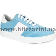 Кроссовки, кеды 0606-152-2415 19Y 419 ice blue suede  голубой замш  туф
