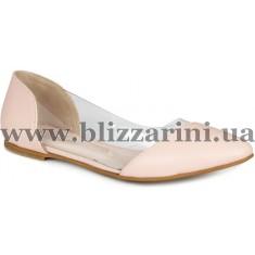 Балетки 22091/20  розовая кожа  туф