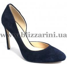 Туфли модельные 3069-81H  dark blue замш  туф