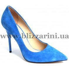 Туфли модельные JH172-A1-MJ73  blue замш  туф