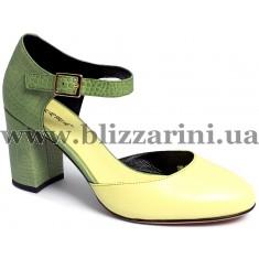 Летний туфель Z98-50H-Y348СK  yellow+green кожа  л-т