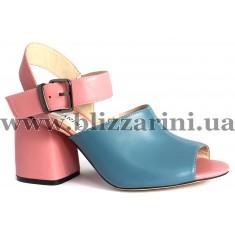 Босоножки JH08L-R2-MX22/MС18  blue+pink кожа  л