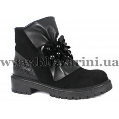 Ботинки 2457 simpl SA 14 siyah  черный замш  бот
