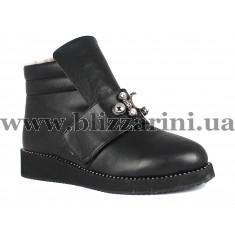 Ботинки G007 0875 02 (полн мех)  черная кожа  бот з
