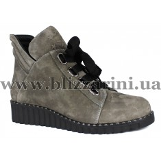 Ботинки M5 N4 (полн мех)  серый нубук  бот з