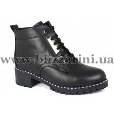 Ботинки 106 04 (полн мех)  черная кожа  бот з