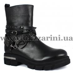 Ботинки K5260/N (полн мех)  черная кожа  бот з