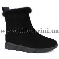 Ботинки 116M-8-YJ1-NP1 (полн мех)  черный замш  зима