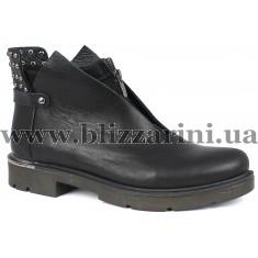 Ботинки 198 564 siyah deri  черная кожа  бот