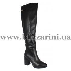 Ботфорты ZR1255-6BMA (МЕХ4)  черная кожа  зима