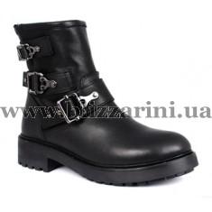 Ботинки 30119 TEYN 125 1-black (полн мех)  черная кожа  бот з