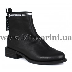 Ботинки A836-10 black  черная кожа  бот