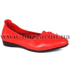 Туфли 163 red  красная кожа  туф