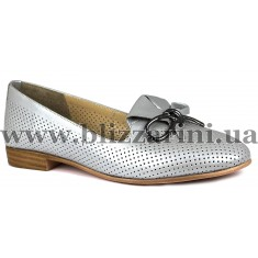 Балетки 0461-1814-9620 19Y 27 light grey leather  серая кожа  туф