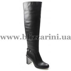 Ботфорт MST23-A2-NP01 black кожа ос