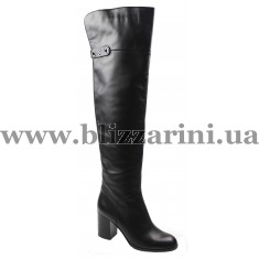 Ботфорт MST22-R3-NP01A black кожа ос