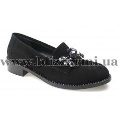 Туфли модельные 461-4 46 черный замш т