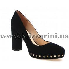 Туфли модельные KR407-04-584 black замш т