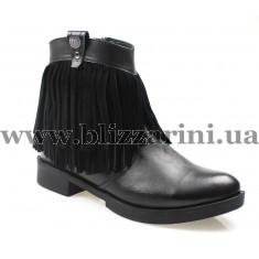 Ботинки D17KB-1065-Bsyh faber/syh mts черная кожа+замш бот
