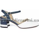 Босоніжки Z269-75H-Y081CK белая/синяя кожа л-т