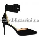 Туфлі XH2052A-817-1 black замш л-т